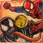 Spiderman and Venom  Vinyl Sketch Cover