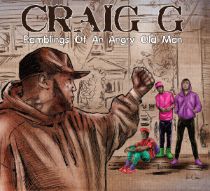 "Craig G ""Ramblings of an Angry Old Man"" Cover and Album Design by Adam ILLUS Wallenta"