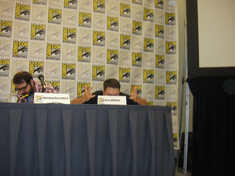 Adam Wallenta at the San Diego Comic Con
