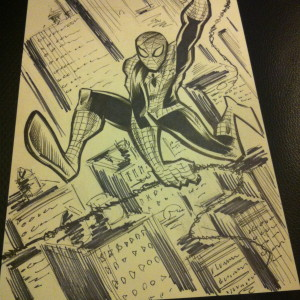 Spiderman Sketch 6-3-14
