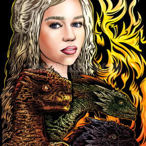 "Limited Edition 11 x 17 ""Mother of Dragons"" 5th Annual ComiCONN Print by Adam Wallenta"