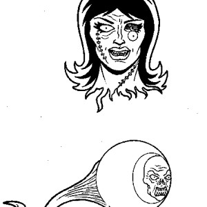 Original Art: Art of Zombie Warfare Spot Illustrations 1 by Adam Wallenta
