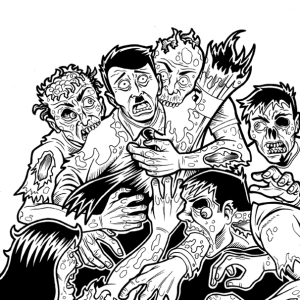 Original Art for Zombies vs Nazis