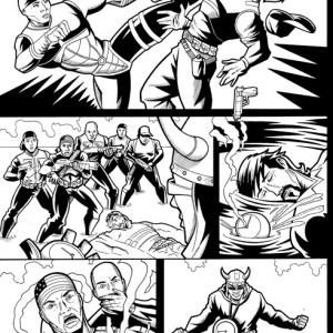 "Original Art for ""Public Enemy"" Issue 0 Page 8"