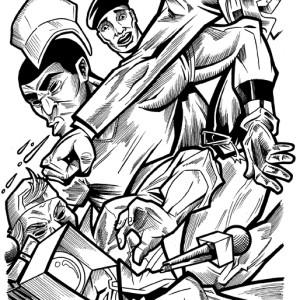 """Original Art for """"Public Enemy"""" #5 Page 4."""