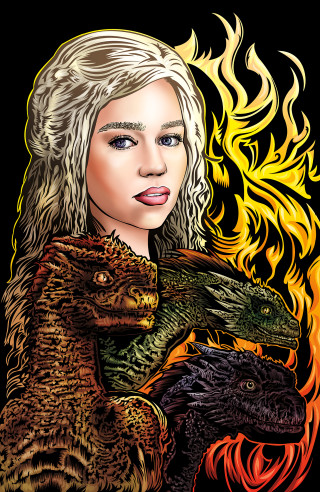 Daenerys Targaryen: Mother of Dragons by Adam Wallenta