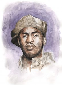 """Rakim"" by Adam Wallenta"