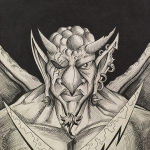 Demon Sketch by Adam Wallenta