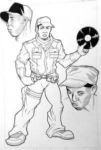 DJ Lord Public Enemy Comic Book Issue 0 Original Art