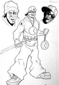 Flavor Flav Public Enemy Comic Book Issue 0 Original Art