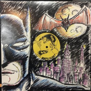Batman Sketch Cover on Limited Edition Vinyl LP