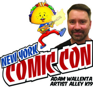 Adam Wallenta will be at New York Comic Con in Artist Alley at Table K19
