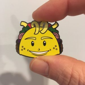 Punk Taco Collector Pin (Front)