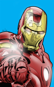 Iron Man and Black Widow ComiCONN Program Art by Adam Wallenta