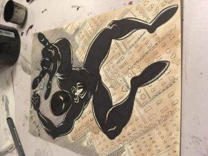 Black Spider-Man Sketch